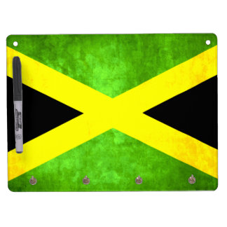 Colorful Contrast Jamaican Flag Dry-Erase Boards