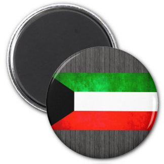 Colorful Contrast Kuwaiti Flag Fridge Magnet