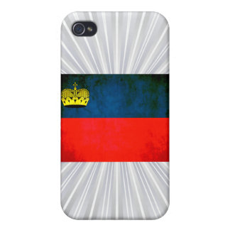 Colorful Contrast Liechtensteiner Flag Covers For iPhone 4