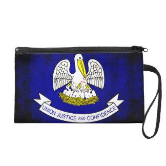 Colorful Contrast Louisianan Flag Wristlet Clutch