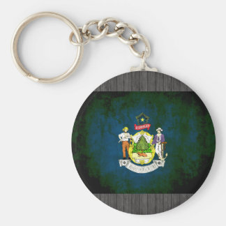 Colorful Contrast Mainer Flag Keychain