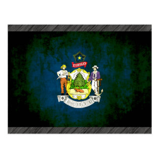 Colorful Contrast Mainer Flag Postcard