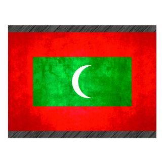 Colorful Contrast Maldivan Flag Postcard