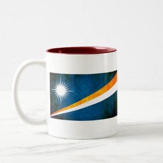 Colorful Contrast Marshallese Flag Two-Tone Coffee Mug