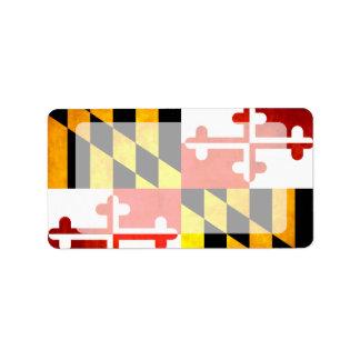 Colorful Contrast Marylander Flag Personalized Address Labels