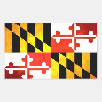 Colorful Contrast Marylander Flag Rectangular Sticker
