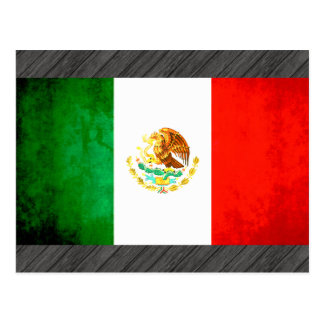 Colorful Contrast Mexican Flag Postcard