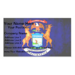 Colorful Contrast Michigan Flag Business Card Templates