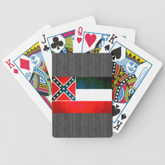 Colorful Contrast Mississippian Flag Bicycle Playing Cards