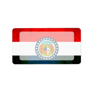 Colorful Contrast Missourian Flag Label