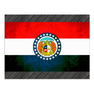 Colorful Contrast Missourian Flag Postcard