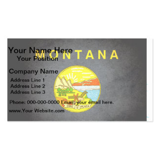 Colorful Contrast Montanan Flag Business Cards