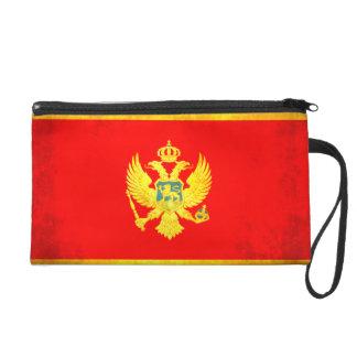 Colorful Contrast Montenegrin Flag Wristlet