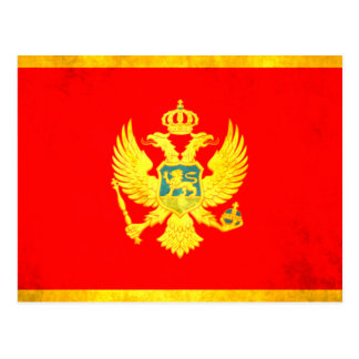 Colorful Contrast Montenegrin Flag Postcard