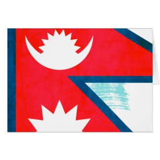 Colorful Contrast Nepalese Flag Cards