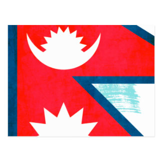 Colorful Contrast Nepalese Flag Postcard