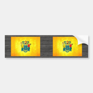 Colorful Contrast New Jerseyan Flag Bumper Sticker