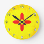 Colorful Contrast New Mexican Flag Clocks