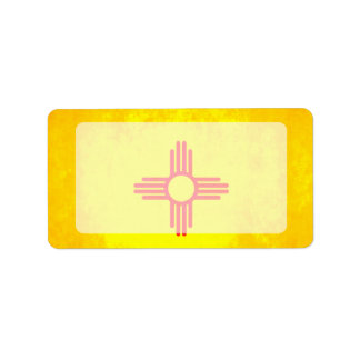 Colorful Contrast New Mexican Flag Label