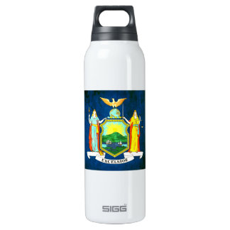 Colorful Contrast New Yorker Flag 16 Oz Insulated SIGG Thermos Water Bottle