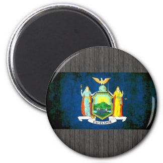 Colorful Contrast New Yorker Flag 2 Inch Round Magnet