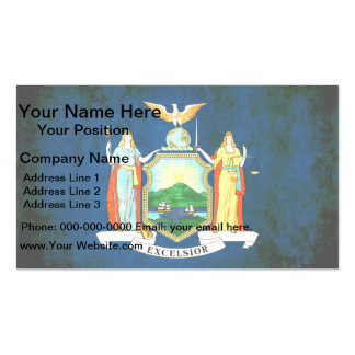 Colorful Contrast New Yorker Flag Double-Sided Standard Business Cards (Pack Of 100)
