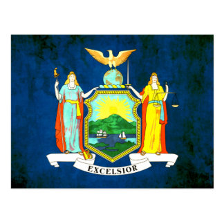 Colorful Contrast New Yorker Flag Postcard