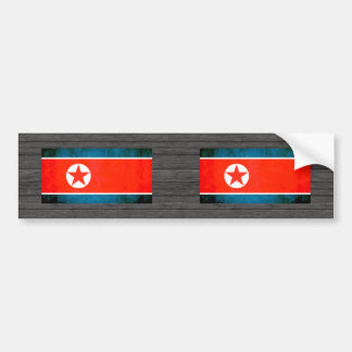 Colorful Contrast North Korean Flag Bumper Sticker