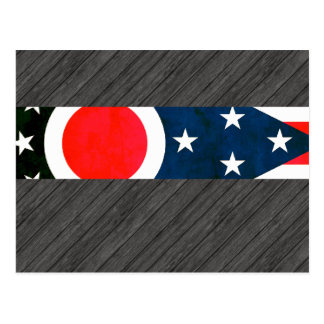 Colorful Contrast Ohio Flag Postcard