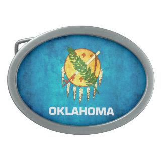 Colorful Contrast OklahomanFlag Oval Belt Buckle