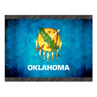 Colorful Contrast OklahomanFlag Postcard
