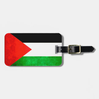 Colorful Contrast PalestinianFlag Luggage Tag