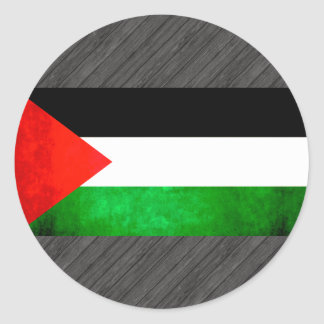 Colorful Contrast PalestinianFlag Round Stickers
