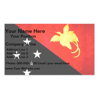Colorful Contrast Papua New GuineanFlag Business Card Templates