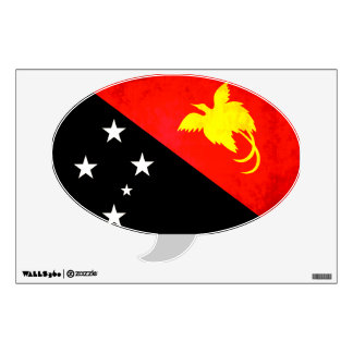 Colorful Contrast Papua New GuineanFlag Wall Sticker