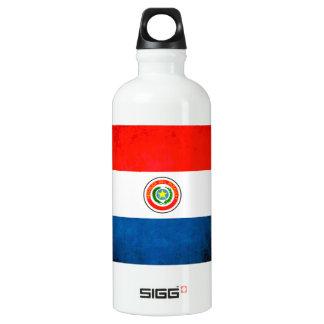 Colorful Contrast ParaguayanFlag Aluminum Water Bottle