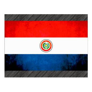 Colorful Contrast ParaguayanFlag Postcard