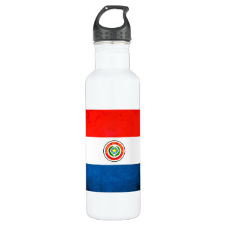 Colorful Contrast ParaguayanFlag Stainless Steel Water Bottle