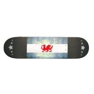 Colorful Contrast PatagonianFlag Skate Board