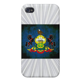 Colorful Contrast PennsylvanianFlag Covers For iPhone 4