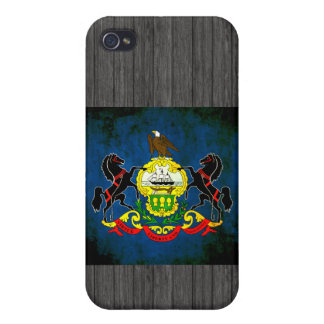 Colorful Contrast PennsylvanianFlag Cover For iPhone 4