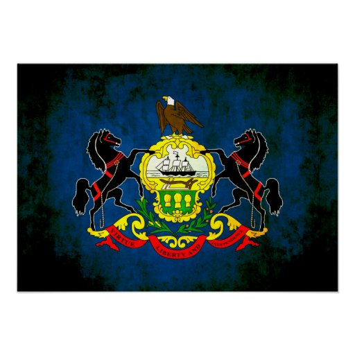 Colorful Contrast PennsylvanianFlag Posters