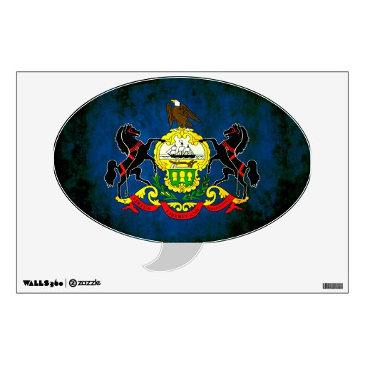 Colorful Contrast PennsylvanianFlag Wall Skins