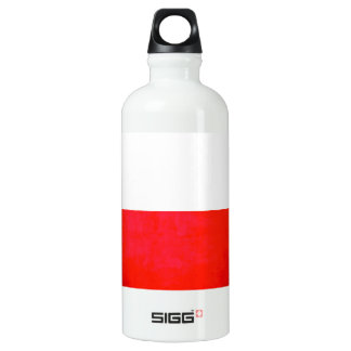 Colorful Contrast PolishFlag Aluminum Water Bottle