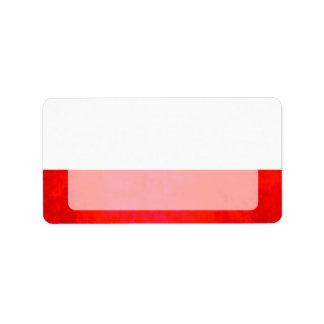 Colorful Contrast PolishFlag Label