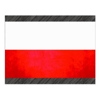 Colorful Contrast PolishFlag Postcard