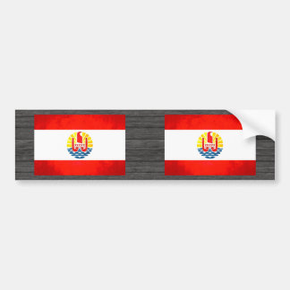 Colorful Contrast Polynesian Flag Bumper Sticker