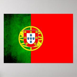 Colorful Contrast PortugueseFlag Poster
