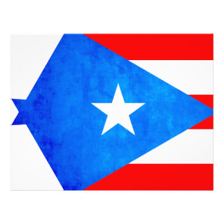 Colorful Contrast Puerto RicanFlag Custom Flyer