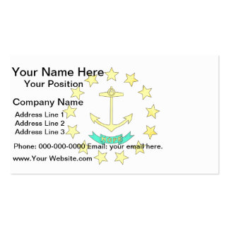 Colorful Contrast Rhode IslanderFlag Double-Sided Standard Business Cards (Pack Of 100)